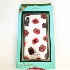 Kate Spade Protective iPhone X or Xs Case Poppies